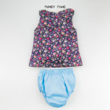 Jolie Floral Short Sleeve Top with Bloomer